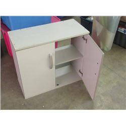 2 door wood cupboard