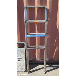 Qty 2 Stainless Steel Ladders