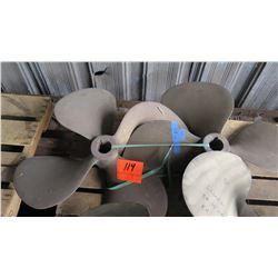 """Qty 2 Bronze Propeller - 32"""" Diameter, 2.150"""" Shaft"""