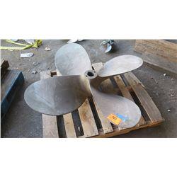 """Bronze Propeller - 55"""" Diameter, 2.836"""" Shaft"""