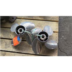 """Qty 2 Stainless Steel Power Tech Propellers for 150-250HP Engine, 14"""" Diameter"""