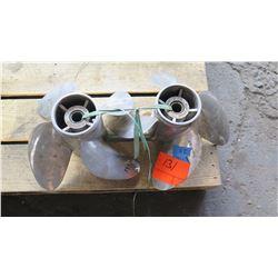 "Qty 2 Suzuki Stainless Steel Propellers for 200-300HP Engine, 15"" Diameter"