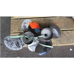 """Qty 2 Volvo Aluminum Propellers for 150 - 250HP Engine, 14"""" Diameter"""
