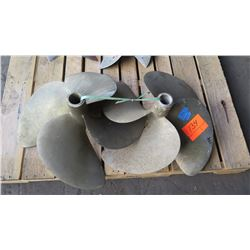 "Qty 2 Bronze Propellers - 1.862"" Shaft"