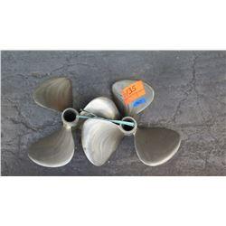 """Qty 2 SMTestnron Brass Propellers for 1.674"""" Shaft, 18"""" Diameter"""