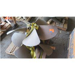 "Qty 2 Bronze Propellers for 3.470"" Shaft, 50"" Diameter"
