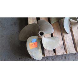 """Bronze Propeller for 1.849"""" Shaft, 28"""" Diameter"""