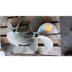 "Qty 2 Bronze Propellers for 1.738"" Shaft, 24"" Diameter"