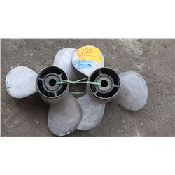 Qty 2 Stainless Steel Propellers for 150-250HP Engine, 14.5 Diameter, 16 Deg. Pitch