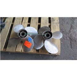 """Qty 2 Stainless Steel Power Tech Propellers for 250-350HP Engine, 17.25"""" Diameter"""