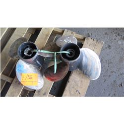 """Qty 2 Stainless Steel Propellers for 200 - 300HP Engine, 16"""" Diameter"""