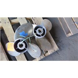 """Qty 2 Yamaha Propellers - Saltwater Series II for 225-350HP Engine, 17"""" Diameter"""
