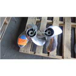 """Qty 2 Stainless Steel Propellers for 225 - 350HP Engine, 17"""" Diameter"""