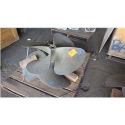 "Qty 2 Bronze Propeller - Keyed for Arneson Shaft, for ASD 12 or 15 Drives, 40"" Dia., 2.098"" Shaft"