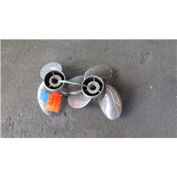 """Qty 2 Stainless Steel Yamaha Reliance Propellers for Yamaha F150-300HP Engine, 200-300HP, 15"""" Dia."""