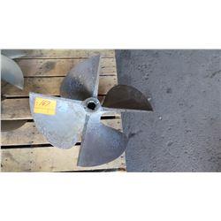 """Bronze Propeller - 26"""" Diameter, 1.822"""" Shaft"""