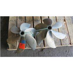 """Qty 2 Bronze  ACME Propellers for 1.729"""" Shaft, 20"""" Diameter"""