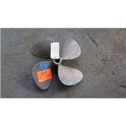 """Bronze Propeller for 1.384"""" Shaft, 18"""" Diameter"""