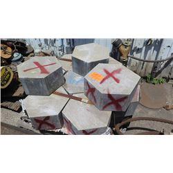 Qty 17 Zinc Blocks