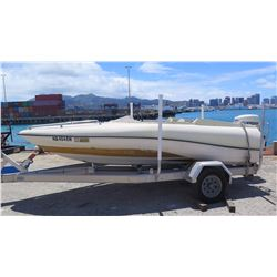 Blagg  Power Boat with 2008 Evinrude ETEC 90HP Engine - 15ft, -NO TRAILER