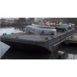 Floating Black Platform Work Barge Dock 109' x 31' -