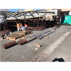 """Pair of Stainless Steel Shafts - Length: 34.5 ft  Diameter: 11.5"""" (From 85' Vessel)"""