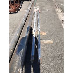 """Pair of Stainless Steel Shafts - Length: 15 ft  Diameter 3.375"""" (From Midfoil Vessel)"""