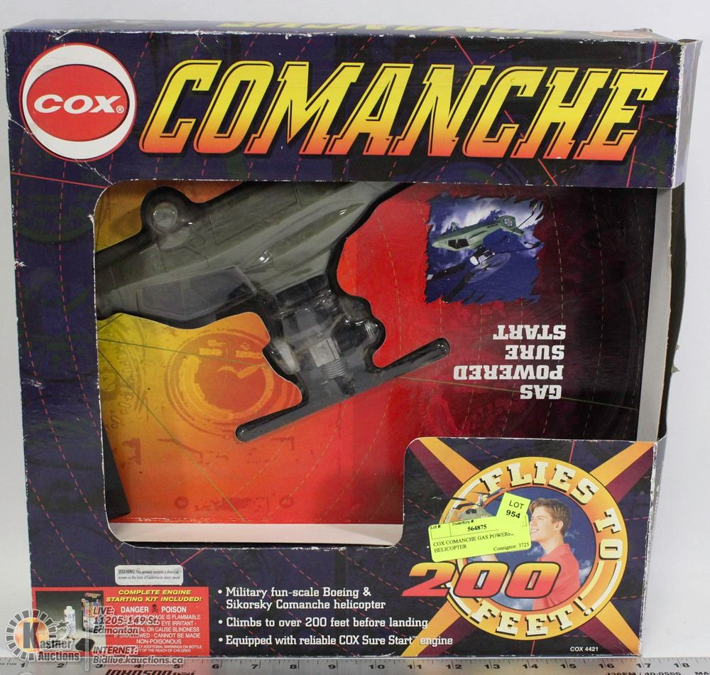 COX COMANCHE GAS POWERED HELICOPTER