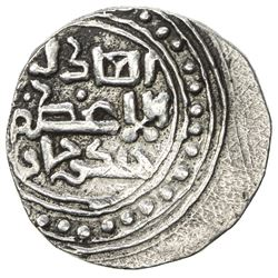 GREAT MONGOLS: Chingiz Khan, 1206-1227, AR dirham (3.03g), NM [Ghazna], ND. VF-EF