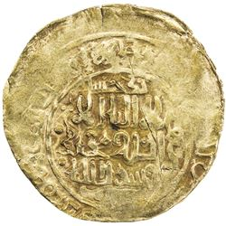 GREAT MONGOLS: Anonymous, ca. 1220s-1230s, AV dinar (4.63g), Badakhshan, ND. VF