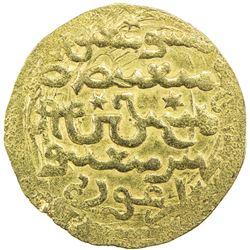 ILKHAN: Arghun, 1284-1291, AV dinar (6.25g), Madinat Tabriz, AH6xx. EF
