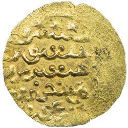 ILKHAN: Arghun, 1284-1291, AV dinar (1.84g), MM, DM. VF