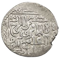 ILKHAN: Arghun, 1284-1291, AR dirham (2.43g), NM [Tiflis], AH685. VF