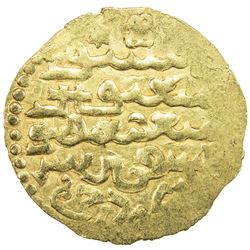 ILKHAN: Gaykhatu, 1291-1295, AV dinar (3.31g), uncertain mint, DM. EF