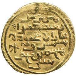 ILKHAN: Ghazan Mahmud, 1295-1304, AV dinar (4.37g), Kashan, AH699. VF