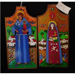 2 Religious Wood Plaques
