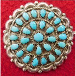Zuni Turquoise Pin or Pendant