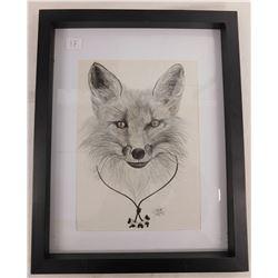 K. Sanders Wolf Pencil Art