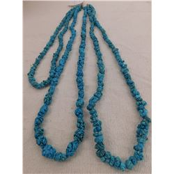 3 Turquoise Nugget Necklaces