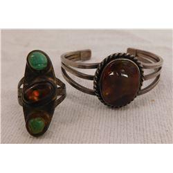 Mexican Fire Opal Bracelet & Ring