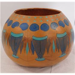 Painted Native American Gourd