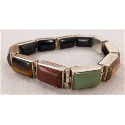 Double-Sided Bracelet w/Stonework