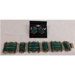 Mexican Effigy Bracelet w/Earrings