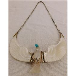 S.S. & Mother of Pearl Eagle Necklace
