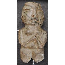 Pre-Columbian Chantal Figure w/Helm COA