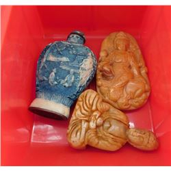 3 Chinese Carvings
