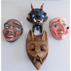 4 Mexican Masks
