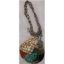 Inlaid Santo Domingo Shell Necklace