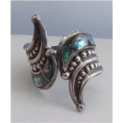 Mexican Sterling & Abalone Cuff