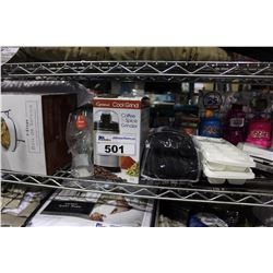 SHELF LOT OF DEPARTMENT STORE ITEMS